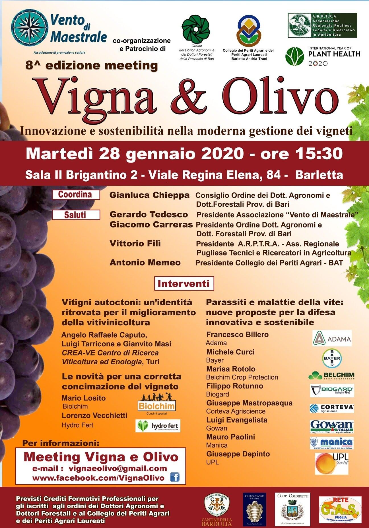 Convegno Vigna e Olivo_Barletta 28 gennaio pv